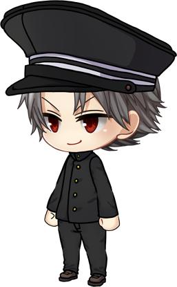 学生服セット(黒) 【上着・ズボン・帽子】