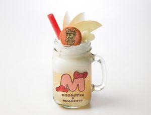 おそ松とハローキティの洋梨とりんごでグビっとジャードリンク 990円+税