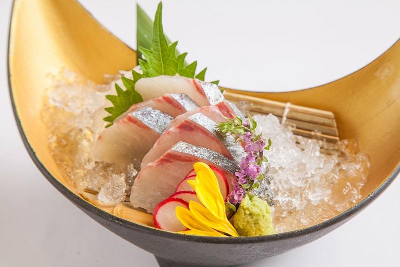 伊達軍:幻の高級魚 縞鯵(シマアジ)のお造り 980円+税