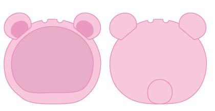ダイヤのおまんじゅうにぎにぎマスコット きぐるみケース/くま ブルー&ピンク