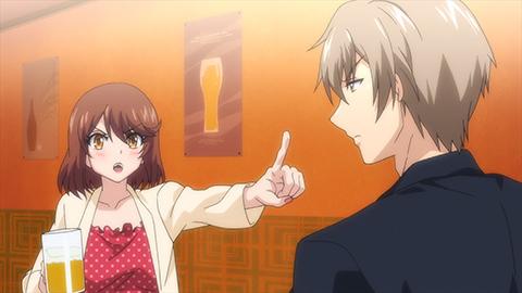 TVアニメ「終電後、カプセルホテルで、上司に微熱伝わる夜。」第1話先行カット